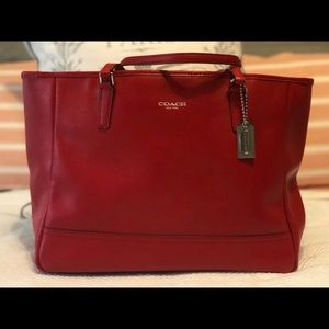 Handbags - Coach City Tote in red.